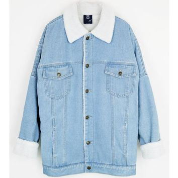 Reversible Sherpa Denim Coat