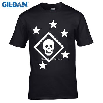 GILDAN funny men cotton t shirt Adult Tees Shirt Marine Raider T Shirts Men's Clothes Printing Short Sleeve Tops For Men Apparel
