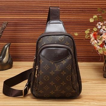 LV Louis Vuitton Women Leather Backpack Crossbody Satchel