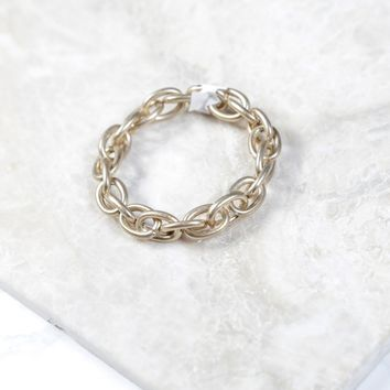 Small Chain Link Bracelet, Gold