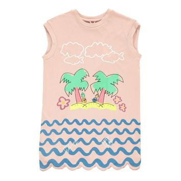 Stella McCartney - Girls Joni Dress With Palms