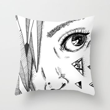 Diamonds Throw Pillow by Kelly Brown | Society6