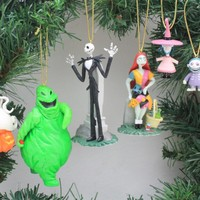Disney's The Nightmare Before Christmas 7 Piece Ornament Set - (7) PVC Ornaments Included - Limited Availability