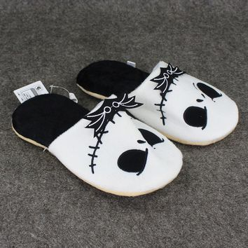 """11"""" 28cm Jack Skellington Plush Slippers The Nightmare Before Christmas Shoes Warm Winter Stuffed Shoes Anime Adult Slipper"""