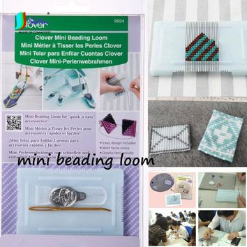 DIY Handmade Knitting Bracelets,Earrings,necklaces Japan Super Small Mini Beading Loom,Baby Beading TOOL Knitting Machine S0561L
