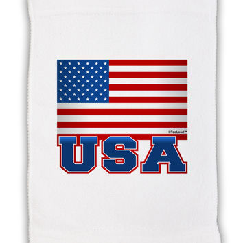 "USA Flag Micro Terry Sport Towel 11""x18"