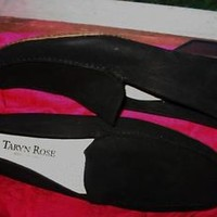 TARYN ROSE MEN SHOES BLACK SUEDE LEATHER LOAFERS  !SIZE 11 M /45! MADE IN ITALY