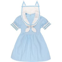 A Harajuku Lolita Cat Ears Sailor Suit Cosplay Suit Dress