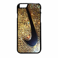 Logo Nike Gold Sparkle Blink iPhone 6 Plus Case