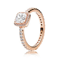 PANDORA ROSE™ TIMELESS ELEGANCE WITH CLEAR CZ RING