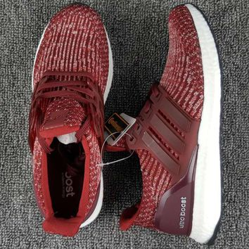 Trendsetter Adidas Ultra Boost 3.0 Burgundy Women Men Running Sport Casual Shoes Sneakers