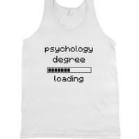 loading... Psychology degree-Unisex White Tank