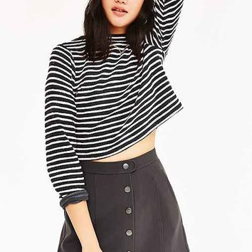 BDG Snap Front Micro Mini Skirt