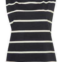 Navy Stripe Slash Armhole Tank Top - Jersey Tops  - Clothing  - Topshop