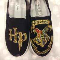 Harry Potter Hogwarts Crest Hand Painted Shoes