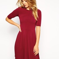 ASOS Skater Dress with Pleat Detail