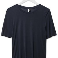 Premium Raw Edge Tee by Boutique - Navy