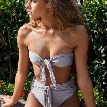 VYB Gentle Bow Tie Bandeau Bikini Top at PacSun.com