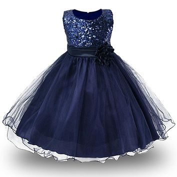 3-14yrs Teenagers Girls Dress Wedding Party Princess Dress Costume Kids Girls Clothing