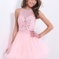 Blush Prom 9854 Illusion Cocktail Dress