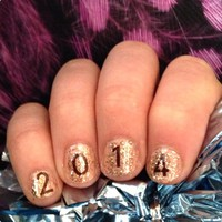 Easy New Years Nails!