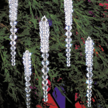 holiday beaded ornament kit-sparkling icicles