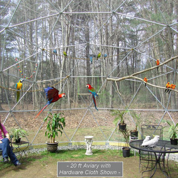 16 ft Geodesic Dome Outdoor Aviary, Flight Cage, Animal Pen
