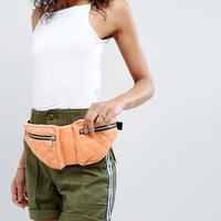 ASOS LIFESTYLE Double Pouch Quilted Bum Bag at asos.com