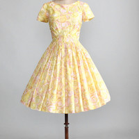 Vintage Early 1960s Pastel Bubbles Party Dress
