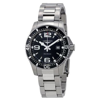 Longines HydroConquest Black Dial Mens Watch L3.730.4.56.6