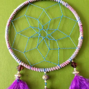 Dream Catcher - Purple - Peace - Gypsy Dreamcatcher - Pink, Blue, Purple