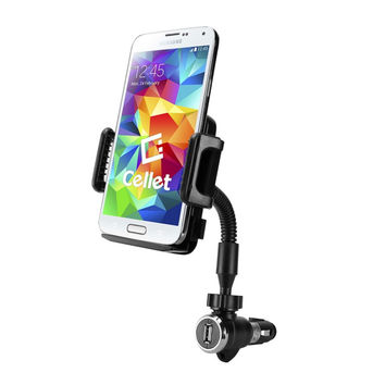 """Cellet Large Car Charger Phone Mount - up to 4.3"""" wide"""