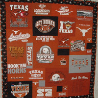 University of Texas Longhorn T-Shirt Quilt