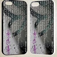 Mean to me brett eldredge quote F0525 iPhone 4S 5S 5C 6 6Plus, iPod 4 5, LG G2 G3, Sony Z2 Case