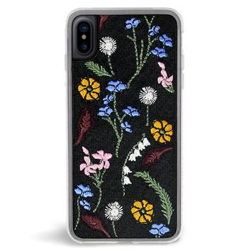 Gather Wildflower Embroidered iPhone X Case