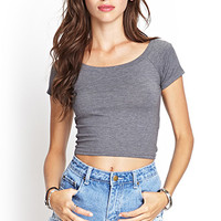 Heathered Knit Crop Top