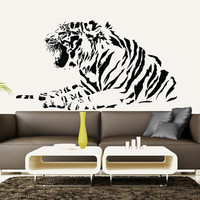 Wall Decal Vinyl Sticker Decals Art Decor Design  Tiger Lion Leopard Panter Animals  Nature Wild Cat Fashion Bedroom Dorm (r1172)