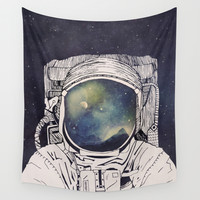 Dreaming Of Space Wall Tapestry by Tracie Andrews