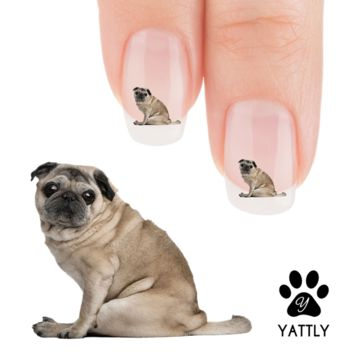"""That Look""  Pug Nail Art Decals (NOW 50% MORE FREE)"