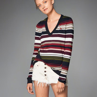 Womens Icon V-Neck Sweater | Womens Tops | Abercrombie.com