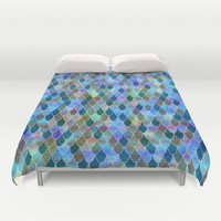 Mermaid Duvet Cover by Schatzi Brown