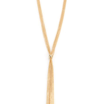 Fine Chain Tassel Necklace