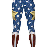 Wonder Woman HD Print Yoga Pants
