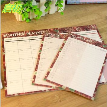 Daily Weekly Monthly Flower Bird Organiser Planner Desk Table Business Schedule To Do List For College And Office