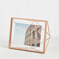 Memorable Dimension Single-Photo Frame in Rose Gold | Mod Retro Vintage Decor Accessories | ModCloth.com