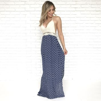 Nico Knit Blue Maxi
