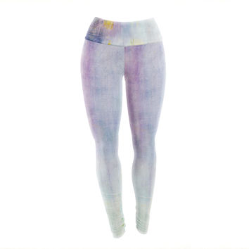 "Iris Lehnhardt ""Color Grunge"" Yoga Leggings"