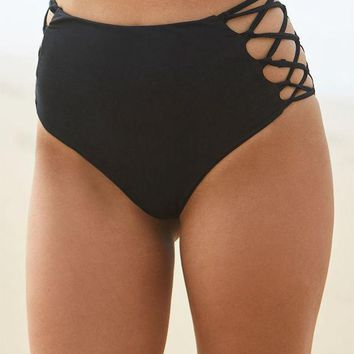 CREYON Young and Reckless x PacSun Strappy High Rise Bikini Bottom