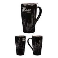 Universal Studios Wizarding Harry Potter Hogwarts Castle Sketch Travel Mug New