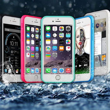 Shockproof Dustproof Underwater Diving Waterproof 360 Full Cover Phone Cases Cover For iPhone 5S 6 6S 6 Plus 4.7 5.5 inch